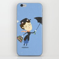 mary poppins iPhone & iPod Skins featuring Mary Poppins by Rod Perich
