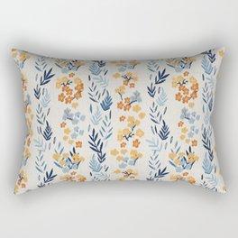 Oleander Floral Pattern Rectangular Pillow