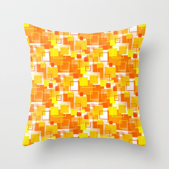 Modern Orange Pillow : Mid-Century Modern - Orange Throw Pillow by Mellowcat Society6