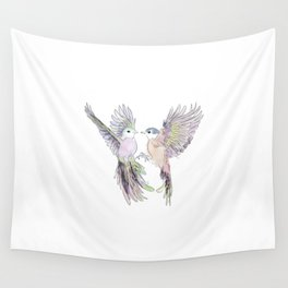 wedding birds, Birds of paradiese, Birds in love tropical bird home decor Wall Tapestry