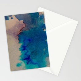 WaterColor Multi Blue Print Stationery Cards