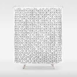 BW TRIANGLE PATTERN Shower Curtain