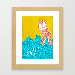 space monster Framed Art Print