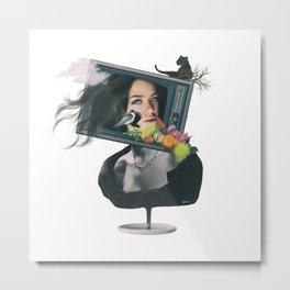 TV woman Metal Print