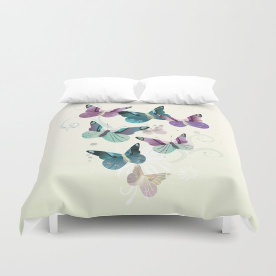 Butterfly dance Duvet Cover