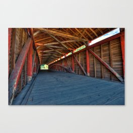 Wooden Tunnel - Barrackville Covered Bridges West Virginia Canvas Print