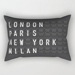 London, Paris, New York, Milan Rectangular Pillow