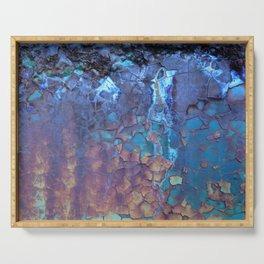 Waterfall. Rustic & crumby paint. Serving Tray