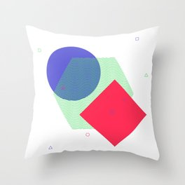 Simple geometric shapes with decorative elements Throw Pillow