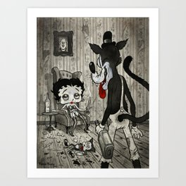 BETTY AND THE WOLF Art Print