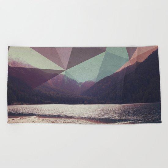 Autumnal Mountains Beach Towel