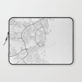 Minimal City Maps - Map Of Aarhus, Denmark. Laptop Sleeve