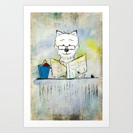 West Highland White Terrier ~ Westie ~ Sophisticated Wally ~ Ginkelmier Art Print