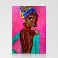 african Stationery Cards featuring African by Ksuhappy