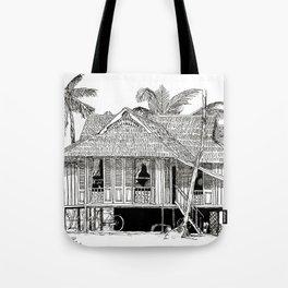Rumah Kampung (Large) Tote Bag