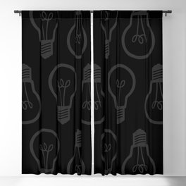Burned Out Light bulb (Dark Grey and Black) Blackout Curtain