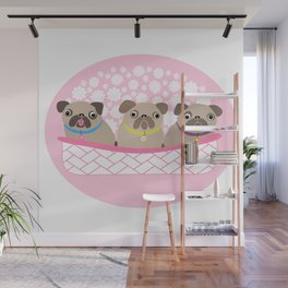 Bouquet of dogs Wall Mural