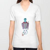 alien V-neck T-shirts featuring Alien by BNK Design