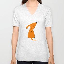 Orange dog Unisex V-Neck
