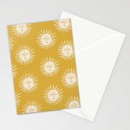 Yellow Sun Pattern Stationery Cards