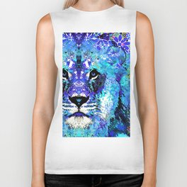 Lion Art - Beauty And The Beast - Sharon Cummings Biker Tank