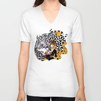 lantern V-neck T-shirts featuring Lantern by T.I.B ARTWORK