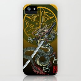 Dragon katana Uesugi iPhone Case