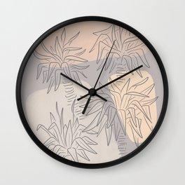 Modern Succulents  Wall Clock