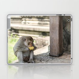 Angkor Wat Long-Tail Macaque (Monkey), Cambodia Laptop & iPad Skin