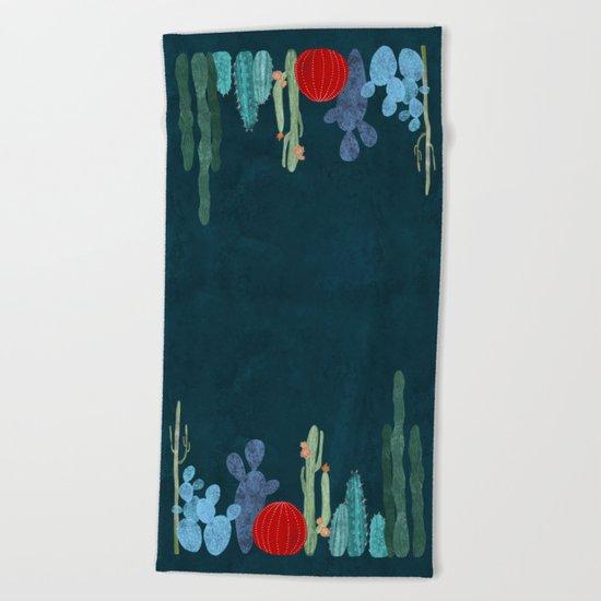 Cactus garden Beach Towel