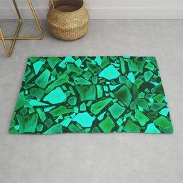 Deep Emerald and Neo Mint Terrazzo Rug