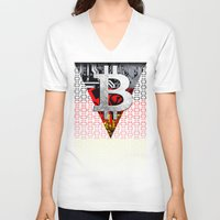 germany V-neck T-shirts featuring bitcoin germany by seb mcnulty