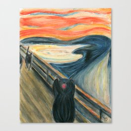 The Yowl (or An Unexpected Spectacle on a Bridge at Sunset) Canvas Print