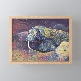 Komodo Dragon Framed Mini Art Print