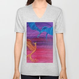 Everlasting Love - Dragon and Phoenix Unisex V-Neck