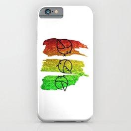 Cool Reggae Music Three Birds Design iPhone Case