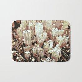 Bird Flight View of New York City Bath Mat