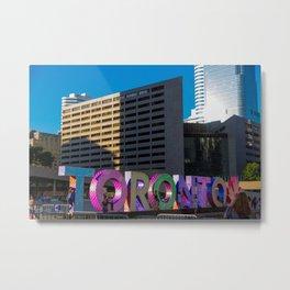 Toronto sign before sunset Metal Print
