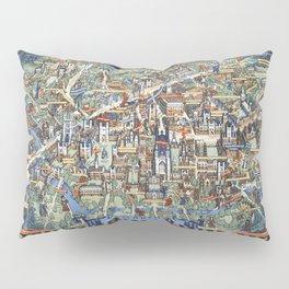 Cambridge University campus map Pillow Sham