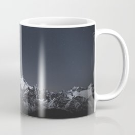SNOW COVERED MOUNTAIN UNDER BLUE SKY DURING NIGHT TIME Coffee Mug