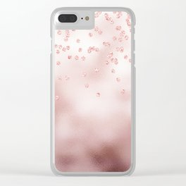 Princess Confetti Glitter on pink metal background #Society6 Clear iPhone Case