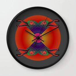 Red Kiss / Love Symbol / Pattern 12-01-17 Wall Clock
