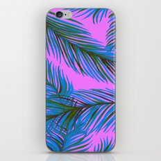 Blue and Purple Palms Pattern iPhone Skin