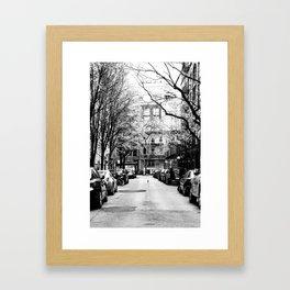 Tree Lined Streets in New York City Framed Art Print