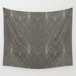 Art Deco in Gold & Grey Wall Tapestry