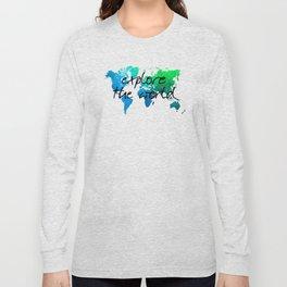 world map 124 explore the world #map #worldmap Long Sleeve T-shirt