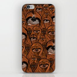 Mountains and mountains of sloths. iPhone Skin