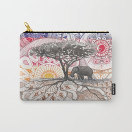 African sunset - kaleidoscope sky Carry-All Pouch