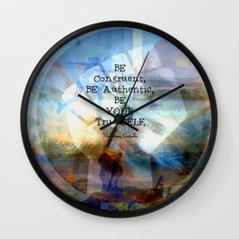 Gandhi Be Congruent Inspirational Quote. Wall Clock