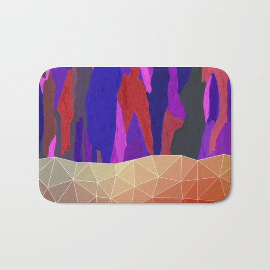 Abstract Colorful Pastel look Design Bath Mat